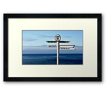 Lands End Signpost 2014 Framed Print