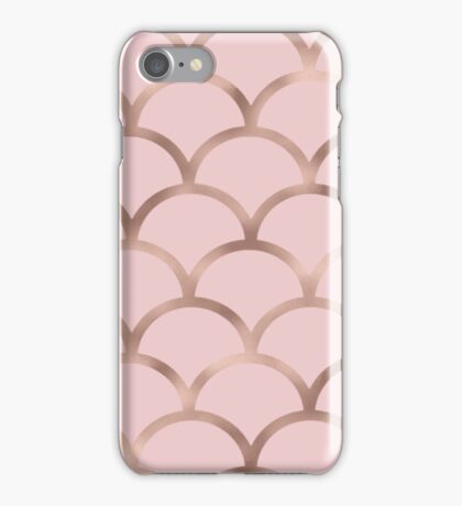 Rose gold mermaid scales iPhone Case/Skin