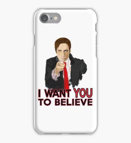 Mulder I Want To Believe iPhone Case/Skin