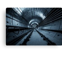 Deep metro tunnel under construction Canvas Print