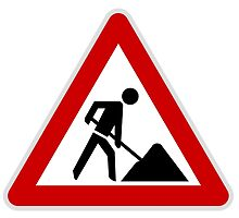 Roadworks sign by cadellin