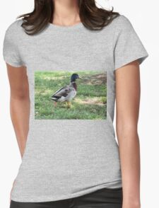 duck in the farm Womens Fitted T-Shirt