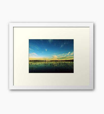 So I sit, and I wait Framed Print