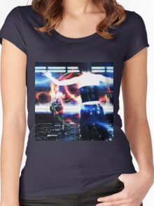 3d woman shooting Women's Fitted Scoop T-Shirt