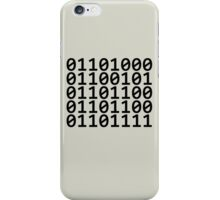 Binary - Black iPhone Case/Skin