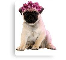Hipster Pug Puppy Canvas Print