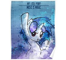 Vinyl Scratch Music is Magic Poster