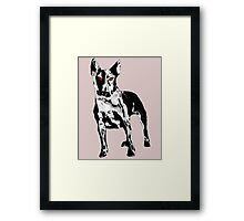 Metal Dog Framed Print