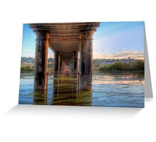 Lost Temples - The River, Murray Bridge, South Australia Greeting Card