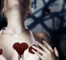Girl with Bloody Heart 2 Sticker