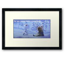 frozen anna and elsa Framed Print