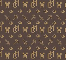 Minecraft Louis Vuitton Pattern by bookishkate