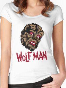 Mani-Yack Wolf Man Shirt Women's Fitted Scoop T-Shirt