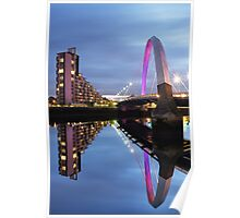 Glasgow Clyde Arc Bridge Reflections Poster