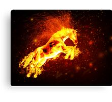 Fire horse 3 Canvas Print