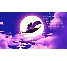 Aladdin and Jasmine Photographic Print