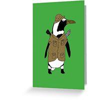 Penguin on safari Greeting Card