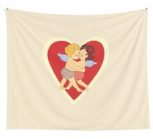 Couple in love vintage design Wall Tapestry