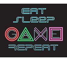 Eat Sleep Game Repeat Photographic Print