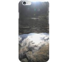 levers water reflection, lake district, coniston iPhone Case/Skin