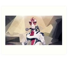 Low Polygon Mordin Solus Art Print