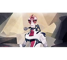 Low Polygon Mordin Solus Photographic Print