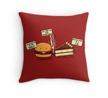 Occupy Stomach Throw Pillow