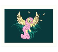 Fluttershy's Flight Art Print