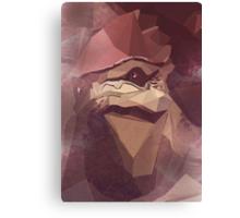 Low Polygon Wrex Canvas Print