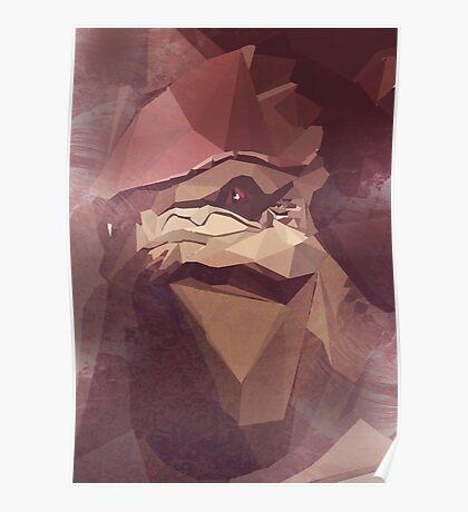 Low Polygon Wrex Poster