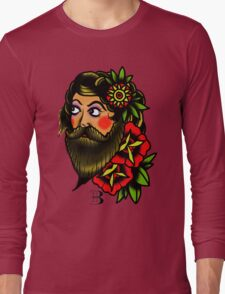 traditional bearded lady Long Sleeve T-Shirt