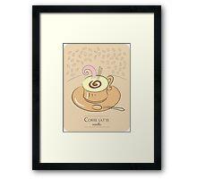 Coffee latte vanilla vintage design Framed Print
