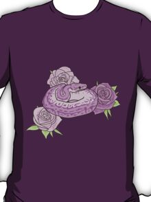 Ball Python and Roses T-Shirt