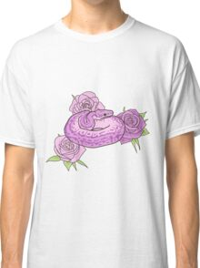 Ball Python and Roses Classic T-Shirt