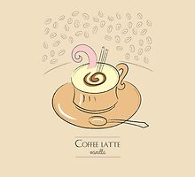 Coffee latte vanilla vintage design by vinainna