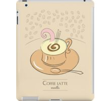 Coffee latte vanilla vintage design iPad Case/Skin