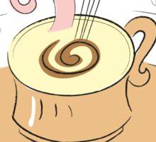 Coffee latte vanilla vintage design Sticker