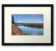 North Saskatchewan River - Autumn Framed Print