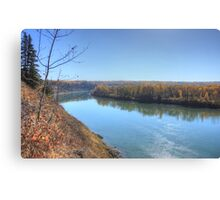 North Saskatchewan River - Autumn Canvas Print