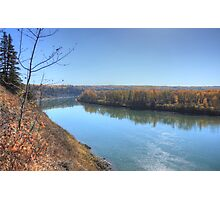 North Saskatchewan River - Autumn Photographic Print