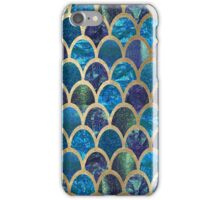 Teal mermaid scales iPhone Case/Skin