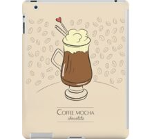 Coffee mocha vanilla vintage design iPad Case/Skin