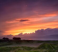 Sunset at Barbury Castle by Mark Hooper