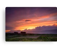 Sunset at Barbury Castle Canvas Print