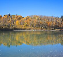 North Saskatchewan River in the fall by Jim Sauchyn