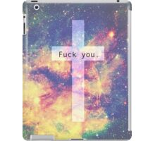 cross fuck you galaxy iPad Case/Skin