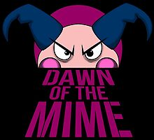 Dawn of The Mime (sticker version) by spazzynewton