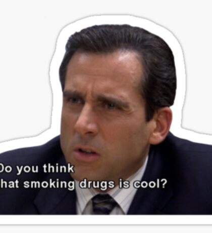 Michael Scott on Drugs Sticker