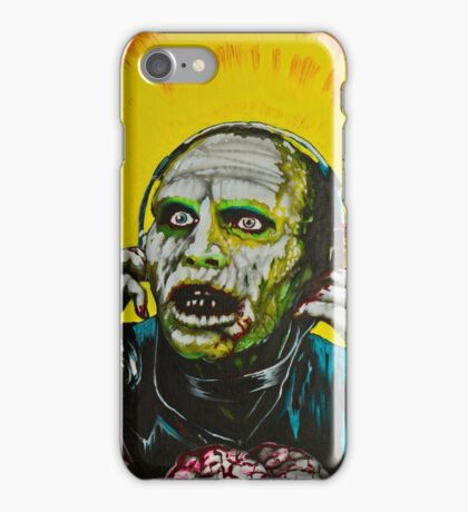 Bub Day of the Dead Zombie with Headphones iPhone Case/Skin