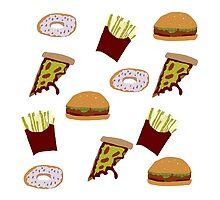 Fast Food Print by duckpie